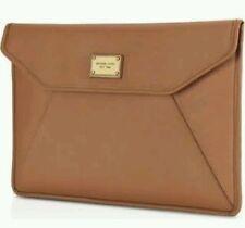"100% Authentic NEW MICHAEL KORS Leather Envelope Clutch Bag |11"" laptop sleeve"