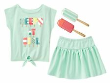 Size 4 Gymboree ICE CREAM PARLOR Girls Outfit, Tee, Skirt, Coin Purse, NWT