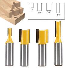 "Shank 1/2"" Dia Straight Router Bit Milling Cutter Woodwork Tool 4Pcs/Set UK"