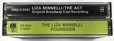 1970s LIZA MINNELLI Vintage Casette Tape LOT Of 2 Foursider The Act Soundtrack