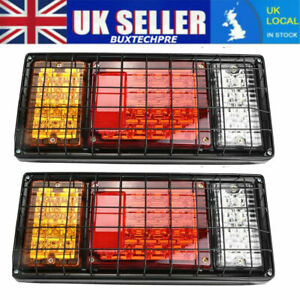 2x 12V 40 LED Stop Rear Tail Indicator Lights Lamps for Ford Transit Chassis