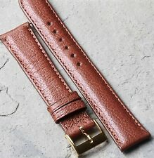 Genuine Water Buffalo classic color 18mm vintage watch strap padded & stitched