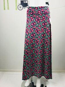 LuLaRoe Womens Size XS Floral Print Maxi Skirt Multicolor Foldover
