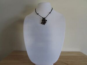 Hand Made Bone Horn Sea Turtle & Baby Necklace Pendant Unisex Mens Womens Surfer