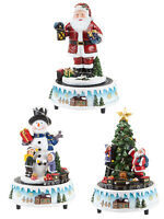 Animated Musical Resin Xmas Scene With Train Christmas Decoration Village