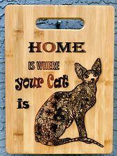 Sphynx Cat Hairless Decor Cutting Board 13x 9 1/2
