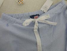 BNWT Ralph Lauren Blue White Stripe Cotton Pyjama Bottoms / Lounge Pants size M