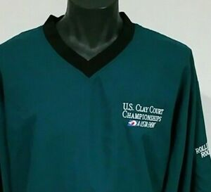 Mens Forrester's Pullover Jacket XL Rolling Rock U.S. Clay Court Championships