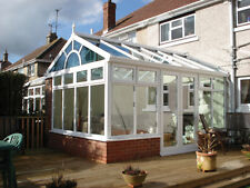 GABLE END DIY CONSERVATORY WITH SUNBURST 3500mm x 4000mm Dwarf Wall Style
