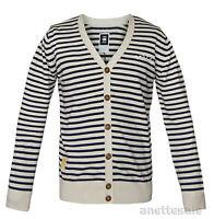 G-STAR Raw Mens Button-Front Cardigan New Aboard Striped Pattern Beige Navy BNWT