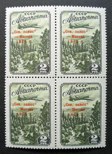 Russia 1955 C96 Var MNH OG North Pole Stations Airmail Block w/o Dash $621.00!!