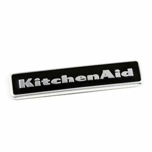 Kitchen-Aid OEM Refrigerator Black Nameplate / Badge Part Number W10243392