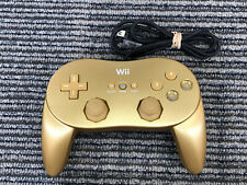 NINTENDO WII OEM GOLD CLASSIC REMOTE CONTROLLER RVL-005 FOR WII OR WII U