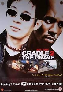 CRADLE 2 THE GRAVE 2003 Jet Li DMX  Original UK Movie Poster video release