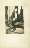 Postcard RPPC Young Gentleman