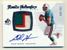 2008 SP AUTHENTIC ROOKIE CHAD HENNE RC 3CLR PATCH AUTO DOLPHINS SP #98/499