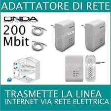 COPPIA POWERLINE BRIDGE 200 Mbps ADATTATORE DI RETE NETWORKING