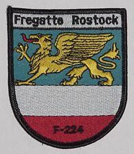 "NVA Volksmarine Aufnäher Patch Fregatte ""Rostock"" F224 ...........A3549"