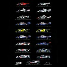 Poster Porsche Vainqueurs Le Mans Edition 19 victoires 50 x 70 oeuvre originale