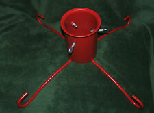 Christmas tree stand red robust metal, Perfect for large tree, Hardly been used