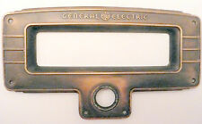 "vintage * GE GENERAL ELECTRIC RADIO:  BRASS DIAL FACEPLATE  6 & 1/2"" x 3 & 7/8"""