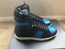 $645 MRSP SAINT LAURENT SL/10H Royal High Top Court Sneakers blue Eu 39 US 6
