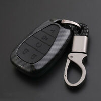 Carbon Fiber Shell+Silicone Cover Remote Key Holder Fob Case For Holden 5 Button