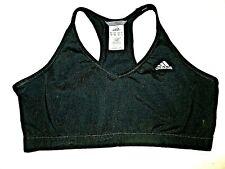 Adidas Womens Sports Bra Black Racerback Activewear Sz Lge