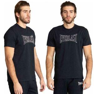 T-Shirt Hommes everlast Sport Manche Courte Jersey avec Logo Coton T-Shirt Bleu