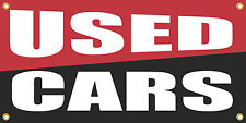 USED CARS 2'x4' VINYL RETAIL BANNER SIGN