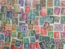 100 Different Germany Stamp Collection - Hitler & Fylfot