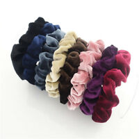 5 PCS Velvet Elastic Hair Rope Tie Elegant Scrunchie Ponytail Holder Women HOT