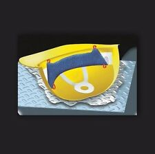 OccuNomix Blue Toppers Dozen Terry Cloth Regular Hard Hat Sweatband W/ Clip-On