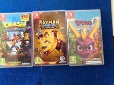 Nintendo Switch Games (crash Bandicoot)(spyro The Dragon)(Rayman Legends)
