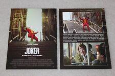 JOKER  (2019) Joaquin Phoenix - Polish promo FLYER - ULOTKA