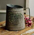 NEW Farmhouse PITCHER Primitive Metal Vintage Style Magnolia Greenhouse Gray 8