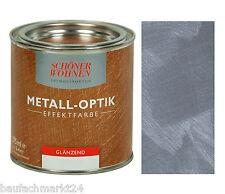 Schöner Wohnen Metall-Optik Effektfarbe Stahlblau 375 ml Wandfarbe Metall-Effekt