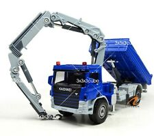Blue 1:50 Crane Truck Construction Vehicle Project Car Diecast Model By KDW 1/50