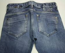 EUC - RRP$369- Womens G-Star Raw Stretch 'MIDGE STRAIGHT WMN' Faded Indigo Jeans