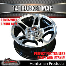 14X5.5 Rocket Alloy Mag Wheel suit Ford Caravan Trailer Boat Jetski Trailer