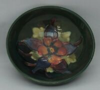 Moorcroft Bowl on green ground - impressed and marks to base - 9.5cm diameter
