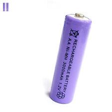 2 pcs AA 2A 3000mAh 1.2V Ni-MH rechargeable battery Solar Light MP3 Toy Purple