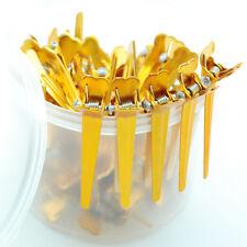 "50 pieces Hair Salon Styling Aluminum Gold 2.2"" Mini Hair Clip with Box"