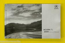 TL T L Sedan 00 2000 Acura Owners Owner's Manual All Models