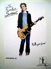 The Rocket Summer Bryce Avary *Hello Good Friend* Promo Poster Do You Feel RARE