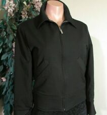 CERRUTI Sz.S/M Chic Black Moto Crop Zipper Jacket Insulated Lining.Long sleeves.