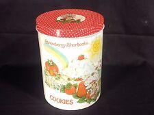 VINTAGE STRAWBERRY SHORTCAKE Large TIN Cookie Jar 1980s Original Cheinco