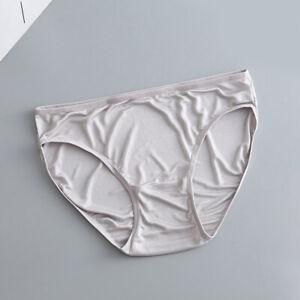Women Mulberry Silk Satin Underwear Lady Seamless Panties Knicker Lingerie Brief