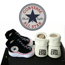 CONVERSE Infant Booties (Black/White) Baby Shower Gift 0-6 Months 2-pairs NIB