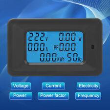 6 EN 1 AC Medidor Voltaje 110V-250V Corriente 20A Potencia Factor KWH Frecuencia